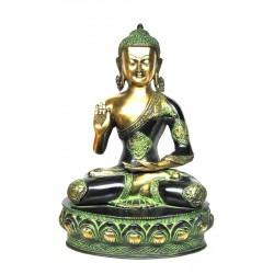 Statue Buddha Abhaya Mudra Bronze God Divinity