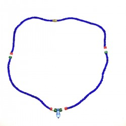 Massai Pearls Blue Jewel Ethnic Africa necklace