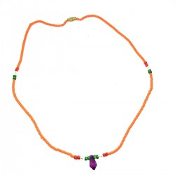 Massai Pearls Jewel Orange Africa Necklace