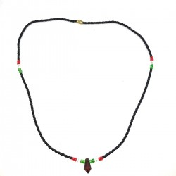 Massai Black Pearls Jewel Ethnic Africa Necklace