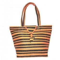 Cabas Bag Orange Natte Pvc Recuperation Africa