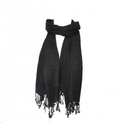Black Scarf India Sweet Winters Hide Nose