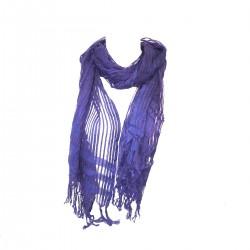 Blue Scarf Night Women Chic Silk