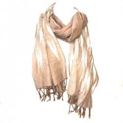 Scarf Ikat Brown Etole India Cheich