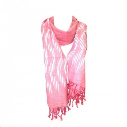 Scarf scarf Ikat Rose Cheiche Etole