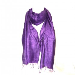 Long Scarf Violet Silk Indian Chic Scarf