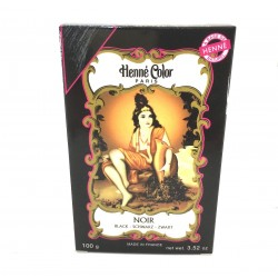 Henné Powder Black Black Dye Coloring Natural Hair Box