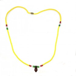 Massai Pearls Roots Yellow Africa Jewel Necklace