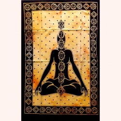 Tenture 7 Chakras Body Energy Buddhism Meditation