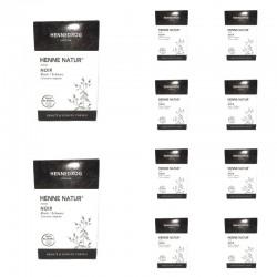 Lot Boxes Henné Black Coloring Hair Color
