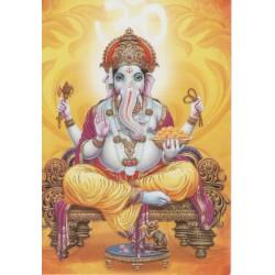 Postcard Ganesh Shiva Elephant India