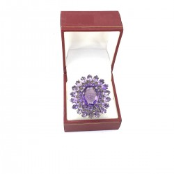 Silver Ring Amethyst Bijou Vendome Cartier
