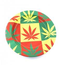 Ashtray Cannabis Warhol Rasta Leaf