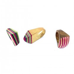 Ethnic Jewel Ring Wood Craft India