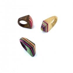 Ethnic Jewel India Wood Artisan Ring
