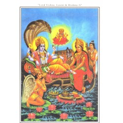 Postcard Lord Lord Vishnu Laxmi Brahma Ji