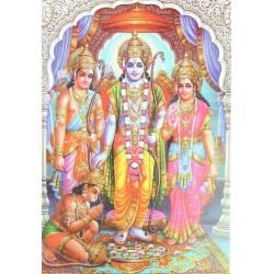 Postcard Ram Sita Laxman Hanuman