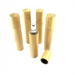 Bamboo Bottle Glass Perfume Oint.s Oil Roll's
