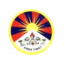 Autocollant Free Tibet Image Sticker