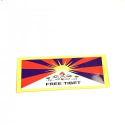 Autocollant Sticker Free Tibet Libre