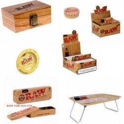 Raw Leaves Cards Ashtray Cards Table Box
