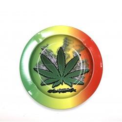 Rasta Cannabis Leaf Club Metal
