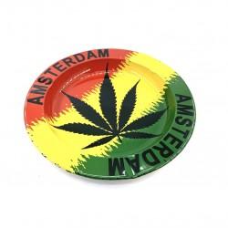 Ashtray Cannabis Amsterdam Rasta Leaf