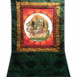 Tangka of the green tara deity