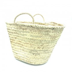 Tote Beach basket in Natural Moroccan Palm.