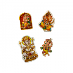 4 large Ganesh sticker