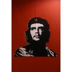 Tenture Batik Che Guevara Red Revolution Mural Rebel
