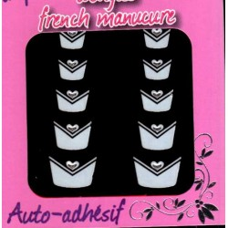 Decors Manucure Nails Stickers French Pose Nail Art Nail