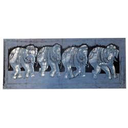 Tenture Elephant Elephants Frieze Blue Decoration