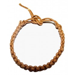 Braided Cotton Brown Bracelet India Solid Ethnic Nature