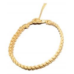 Braided Bracelet Cotton Beige Creme India Ethnic Nature Solid