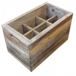 Locker 6 Recycled Wood Bottles Storage Bar Cave Cuisine