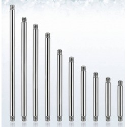 Surgical Steel Bar 1.2 mm long Jewelry Body Tige Lot