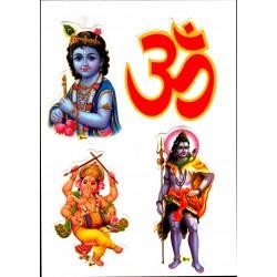Sticker OHM Shiva Krishna Divinity Aum Praying India Meditation