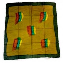 Pure Silk Square Scarf Batik Fine Chic Fashion Authentic Chic