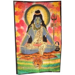 Tenture Batik Shiva Divinity India Power
