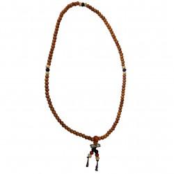 Mala Wood Dordge Necklace India Buddhism Jewelry