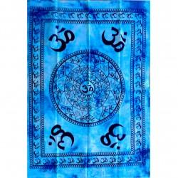 Tenture Ohm Aum Meditation India Craft Batik Wall Decoration