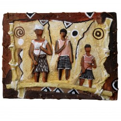 Table Bas Relief Africa Natural Contemporary African Artist