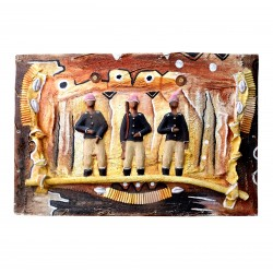Table Bas Relief Africa Soldiers Military Contemporary Art
