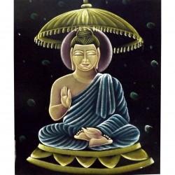 Velvet Buddha Boudha Buddhism Divinity Asia India Tenture Poster Batik God