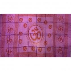 Scarf Violet Om Aum Ram Ram Benares Buddhist Scarf Buddhism Clothing Meditation