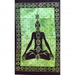 Tenture 7 Chakras Body Energy Buddhist Buddhism Meditation Representation