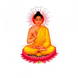 Deity Sticker Buddha God India Sticker Meditation Image