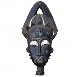 Mask Baoulé Old Collection Authentic Original African Art Wood