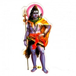 Sticker Shiva Divinity India Indian Power Force Destruction